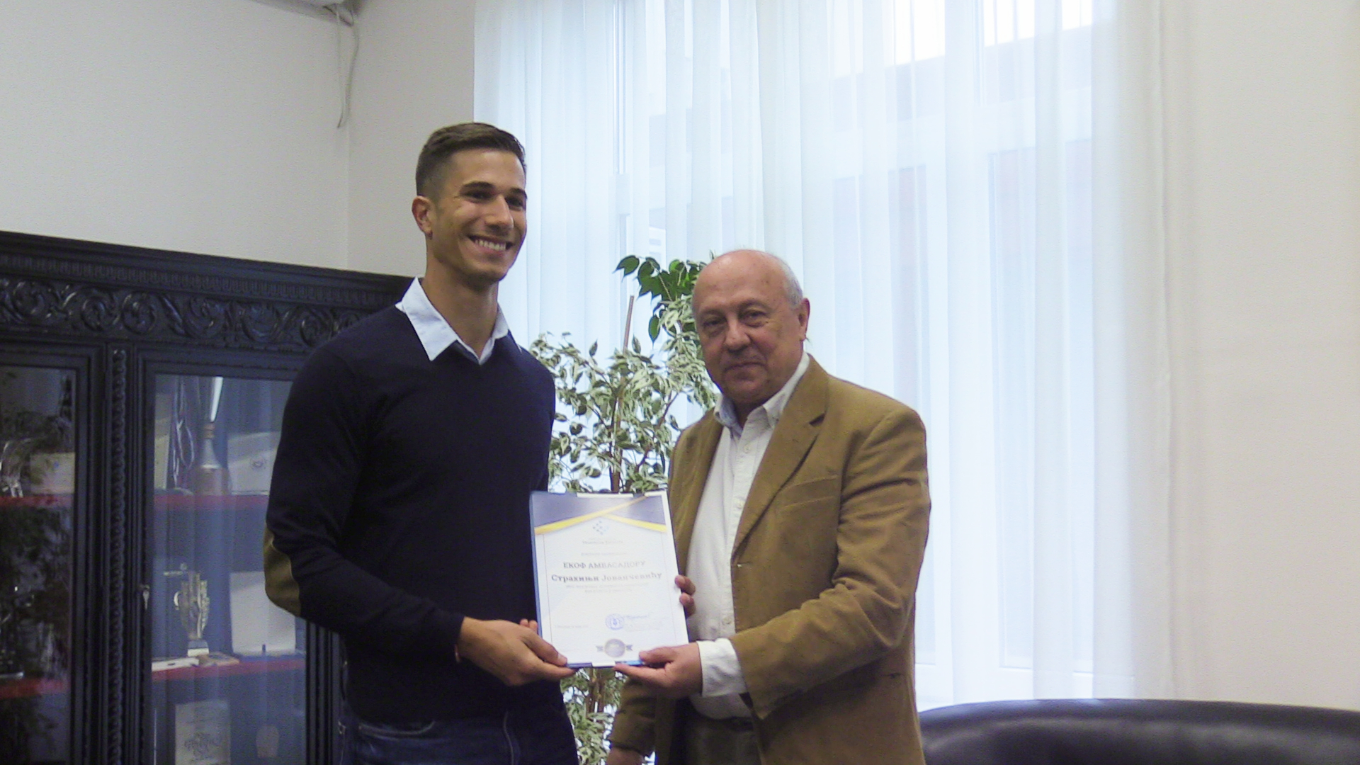Prvi ambasador EKOF-a: atletičar Strahinja Jovančević
