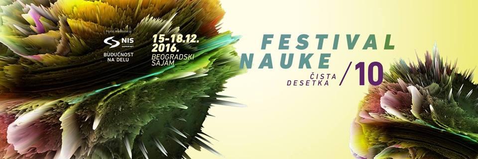 Jubilarni 10. Festival nauke u Beogradu